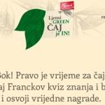 Franck nagradna igra: Ljetni GREEN ČAJ je IN