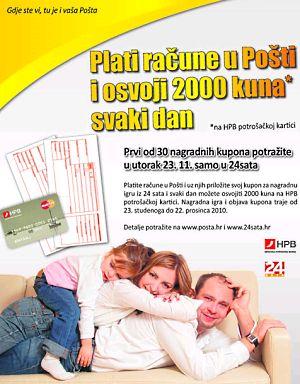 Pošta i 24 sata: svaki dan 2000 kn