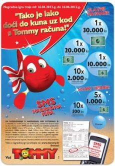 tommy nagradna igra 2012 sms
