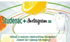 studenac: majica za sliku preko instagrama