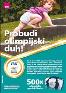 pampers i ariel nagradna igra: probudi olimpijski duh