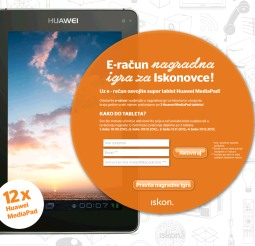 iskon nagradna igra: preko e-raćuna do tableta