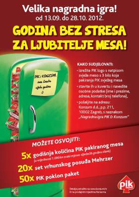 pik nagradna igra u konzumu 2012 - Godina bez stresa za ljubitelje mesa