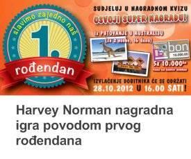 harvey norman nagradna igra za prvi rođendan