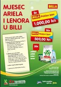 billa nagradna igra: ariel i lenor nagradna igra 2012