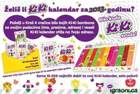 kiki nagradna igra kalendar 2013
