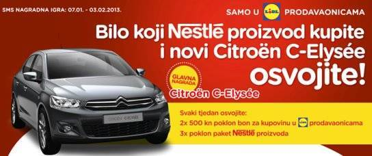 lidl nagradna igra 2013 nestle citroen c elysee: Thomy, Maggi, Nescafe, Nesquick, Lion , Kit Kat
