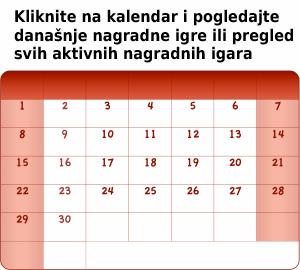 nagradne igre u kalendaru