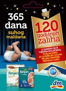 Dobitnici nagrade godišnja zaliha Pampers pelena, 38 paketa