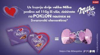 Milka i Konzum poklonjaju Swarowski naušnice