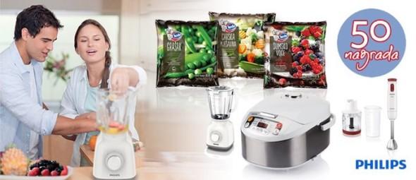 Ledo nagradna igra 2015 uz voće i povrće za Philips aparate