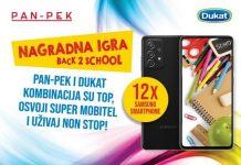 PanPek i Dukat logo i Samsung Galaxy A72 Fantomsko crni